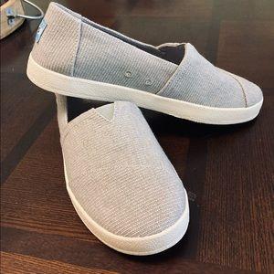 NWOB**TOMS Tweed Canvas Slip-On Shoes